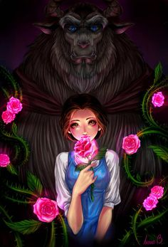 the beauty and the beast by AireensColor on DeviantArt - Disney princess Disney Princess Drawings, Disney Princess Art, Disney Drawings, Cute Drawings, Drawing Disney, Anime Princess, Disney Belle, Cute Disney, Deviantart Disney