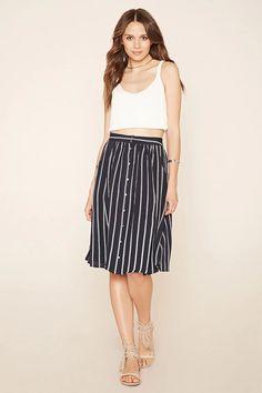 Contemporary Striped Skirt #f21contemporary