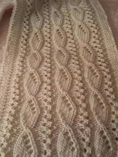 A gorgeous textured ivory scarf for the discerning woman. by on Etsy Baby Knitting Patterns, Knitting Stiches, Sewing Stitches, Lace Patterns, Knitting Designs, Stitch Patterns, Knitting Daily, Easy Knitting, Crochet Shawl