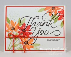 Stampin Up Avant Garden card by Kristi @ www.stampingwithkristi.com