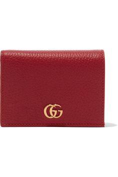 Gucci | Marmont Petite textured-leather wallet | NET-A-PORTER.COM