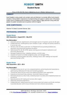 7 Nursing Student Skills for Resume 2 Nursing Resume Examples, Resume Objective Examples, Resume Template Examples, Best Resume Template, Cover Letter Template, Cover Letter For Resume, Student Nurse Resume, Manager Resume, Nursing Students