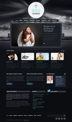 Jesus Church Twitter Bootstrap HTML Template 300111588 by Dynamic Template