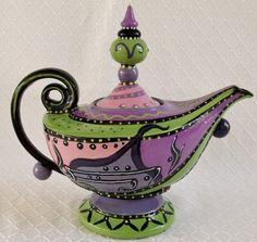 """#174-02 Jasmine Teapot, 9""""H"""