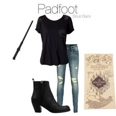 Padfoot [Sirius Black], created by nearlysamantha on Polyvore