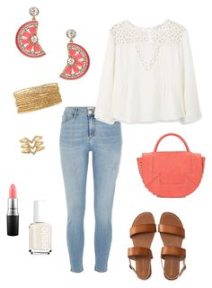 """""""Untitled #358"""" by kmysoccer on Polyvore featuring River Island, MANGO, Danielle Nicole, Essie, Aéropostale, Stella & Dot, Kate Spade and MAC Cosmetics"""