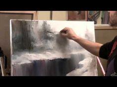 Artist Igor Sacharow. How to Draw Schnee Russische Bob Ross