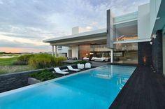 idées de terrasse et jardin piscine rectangulaire de luxe