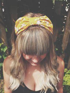 Mellow Mustard Boho Headband Boho Headband, Headbands, 70s Hair, Purple Peonies, Scarf Hairstyles, Love Hair, Vintage Hairstyles, Hair Ties, Bangs