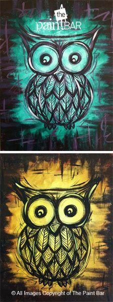 Rustic Owl www.thepaintbar.com