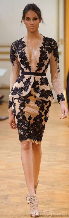 Zuhair Murad Haute Couture | F/W 2013:  This type of lace applique used to be only for brides, and now it's for everyone!