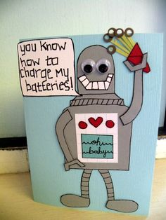 ou know how to charge my batteries Valentines day card - AbbeyJay - Etsy