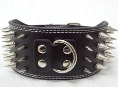 NEW 3'' Wide Leather Spiked Dog Collars Large Dog Pit bull Dogs Terrier Collars