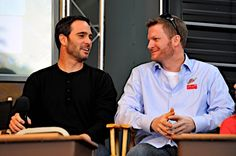 Caption this photo of Jimmie Johnson and Dale Earnhardt Jr. Winner will be announced on Dec. 12.