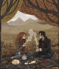 James Potter and Lily Evans Fanart Harry Potter, Arte Do Harry Potter, Harry Potter Love, Harry Potter Fandom, Harry Potter World, Lily Potter, James Potter, Illustrations Harry Potter, Arte Indie