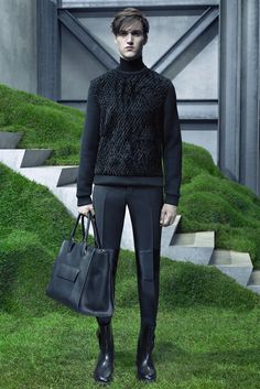 I like the texture of this sweater, almost like fishnet.  Balenciaga Fall 2015 Menswear - Collection - Gallery - Style.com