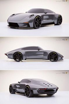 Porsche 901 is Ultra Sleek Reimagines the Classic 911 - Auto X Bugatti, Maserati, Ferrari, Lamborghini, Porsche Rs, Audi, Automobile, Ferdinand Porsche, Futuristic Cars