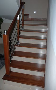 Stairs Tiles Design, Staircase Design Modern, Home Stairs Design, Contemporary Stairs, Door And Window Design, Room Door Design, House Layout Plans, House Layouts, Wooden Staircase Railing