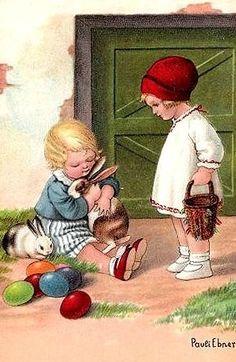 Pauli Ebner - Vintage Easter Postcard