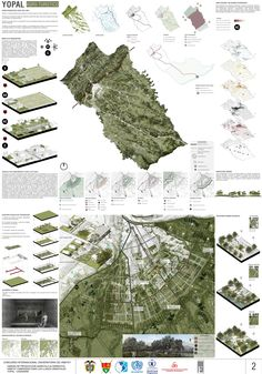 Colombia 35 is part of architecture Model House Perspective - Colombia Lámina 02 Image Courtesy of Equipo Primer Lugar Minecraft Architecture, Architecture Panel, Architecture Graphics, Architecture Drawings, Architecture Portfolio, Flying Architecture, Presentation Board Design, Architecture Presentation Board, Landscape And Urbanism
