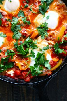 Simple and good, Israeli Shakshuka. A Foodie's Guide to Tel Aviv: 5 Ways to Culinary Perfection on TheCultureTrip.com. Click the image to find the best foodie hotspots in Tel Aviv. (Image via alittlesaffron)
