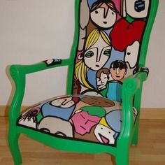 Fauteuil style voltaire Take A Seat, Upcycled Furniture, Decoration, Upholstery, Etsy, Ideas, Home Decor, Style, Home Ideas
