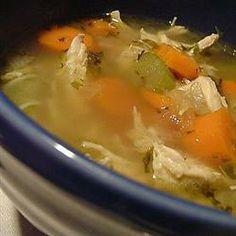 Portuguese Chicken Soup II Allrecipes.com Chicken Noodle Soup, Chicken Soup Recipes, Recipe Chicken, Chicken Orzo, Mushroom Chicken, Mushroom Soup, Portuguese Recipes, Portuguese Soup, Brazilian Portuguese