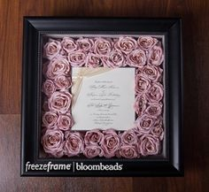 Frame Your Wedding Flowers: Bouquet Preservation