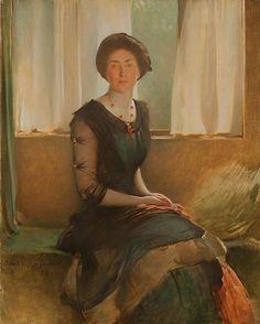 John White Alexander - Portrait of a Lady (Elizabeth A. Alexander), 1911