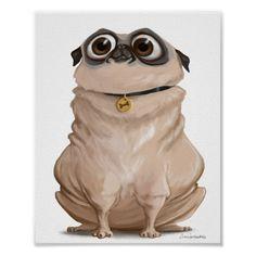 Pug Illustration, Dumb Dogs, Pug Rescue, French Bulldog Blue, Pug Art, Pug Love, Animal Drawings, Pet Dogs, Dog Lovers