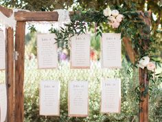 Hinged chicken wire wedding backdrop