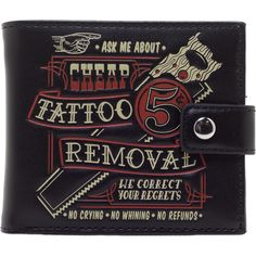 Inked Boutique - Men's Tattoo Removal Wallet www.inkedboutique.com