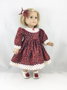 Fall Dress For American Girl Doll and Other 18 by dressurdolly2