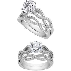Petite Pavé Crown Diamond Engagement Ring in 14k White Gold (2/5 ...