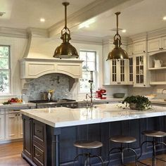 Do you remember the post about the Santa Barbara Design House family room + kitchen designed by none other than Mary McDonald? Well, I had the pleasure of meeting the kitchen (and bath) designer w… Home Decor Kitchen, Interior Design Kitchen, New Kitchen, Home Kitchens, Remodeled Kitchens, Kitchen Ideas, Room Kitchen, Hidden Kitchen, Kitchen Cabinets