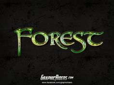 GraphicRiders | Fantasy style – Forest (free photoshop layer style, text effect)