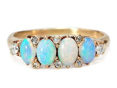 Circa *Gurgle gurgle* omg it's so beeeeautifuul! Cute Jewelry, Unique Jewelry, My Birthstone, Opal Jewelry, Silver Pearls, Opal Rings, Statement Jewelry, Turquoise Bracelet, Engagement Rings