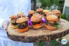 Malibu Hills Backyard Mini Burger: Mini BBQ Bacon Cheeseburgers served on…