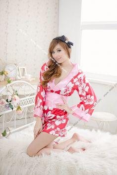 Satin Nightwear Sleepwear Kimono Japanese Dress Robe Intimates G-string