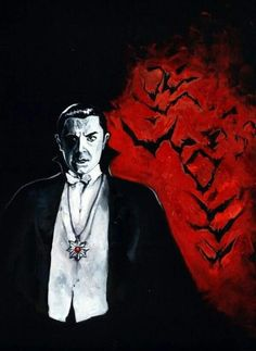 Universal Classic Horror Monsters Art : Bela Lugosi as Count Dracula