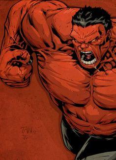 Enraged Rulk Red Hulk Marvel, Marvel Comics, Hulk Comic, Marvel Comic Books, Marvel Art, Comic Book Characters, Marvel Characters, Marvel Heroes, Comic Character
