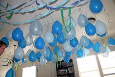 [Our Little Family]: A Shark Party. Cute way to make it look as if you're under the sea!