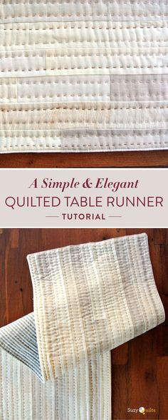 Free quilted table runner pattern and step by step tutorial. This modern, handmade home decor will had elegance and warmth to any room.