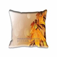 Cushion Cover To Decorate Maple Leaves Closeup Throw Pillow Cases Polyester and Cotton Seasons Zippered Chair Cushion Covers Autumn Pillowcases for Home Decoration ** Be sure to check out this awesome product.