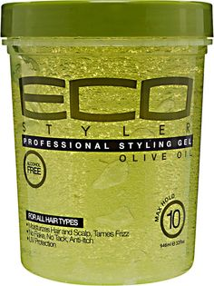 ecoco eco styler Eco Styler Olive Oil Styling Gel is for all hair types. This product is alcohol free and made with hundred percent pure olive oil with maximum hold. Best Natural Hair Products, Natural Hair Tips, Natural Hair Journey, Natural Hair Styles, Styling Gel, Eco Styler Gel, Protein, Pure Olive Oil, Olive Oils