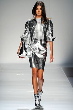 Metallic Suit #sleekandchic #metallic