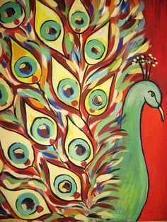 peacock paintings - Google Search
