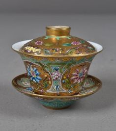 Chinese Porcelain Covered Cup/Saucer