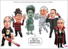 Políticos brasileiros são o perfeito elenco de um Filme de Terror...