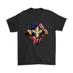 NFL - New Orleans Saints Independence Day Football Shirts-T-shirt-Gildan Mens T-Shirt-Black-S-Itees Global New Orleans Saints Shirts, Presidents Day, Martin Luther King Day, Football Shirts, Independence Day, Funny Shirts, Graphic Tees, Hoodies, Long Sleeve